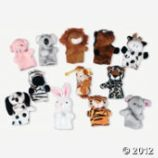 Plush animal finger puppets, Oriental Trading Company
