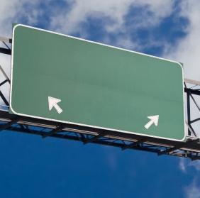 Freeway sign